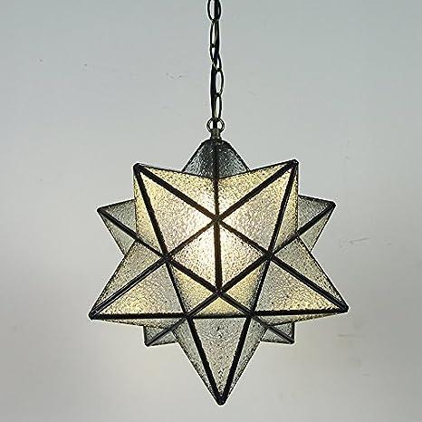 Lámpara de techo colgante retro moderno salón Star stars ...