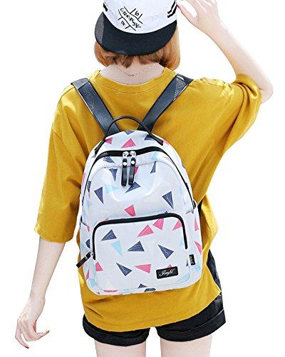 Zaino Scuola Casual Zainetto Ragazza/Donna Zaini Backpack Grigio Chiaro Grande