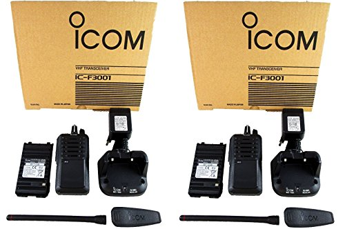 QTY 2 Icom IC-F3001 03 RC VHF 136-174MHz 5W 16 CHANNELS Two Way Radio by Icom