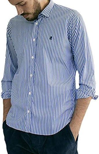 Camisa El Pulpo Rayas Fondo Azul Hombre M: Amazon.es: Ropa y ...
