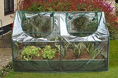 Jur_Global SH3212A+BTP Garden Cold Frame with Raised Bed 120x60x(60+14) cm by Jur_Global