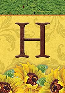 SnapDragon Flag - Sunflower Monogram - H