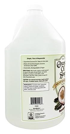 Nutribiotic Pure Coconut Oil Soap, Unscented, 128 Fluid Ounce