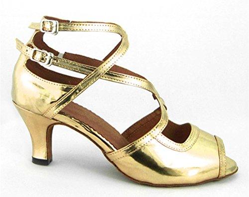 Tda Dames Comfort Peep Toe Gesp Salsa Tango Ballroom Latin Moderne Dans Trouwschoenen Pu Glod