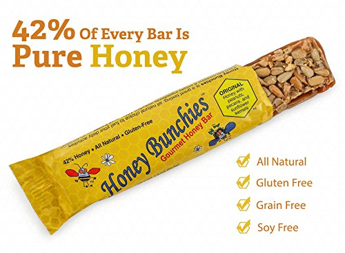 All-Natural Gourmet Honey Bars by Honey Bunchies (10 pack) - Nutritious and Delicious Pure Honey, Peanut, Sunflower Kernel, Pecan - Gluten-Free, Soy-Free, Grain-Free Snack for Energy or Workout by Honey Bunchies (Image #1)