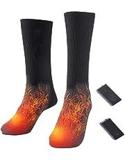 Yonhchop Batería Recargable Calcetines térmicos eléctricos Calcetines térmicos Botas para pies Calentador Calcetines de esquí de