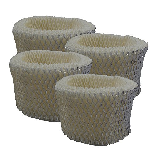 Air Filter Factory 4 Pack Compatible Humidifier Wick Filters For Honeywell HCM890, HCM890B, HCM890C, HCM-890-20 by Air Filter Factory