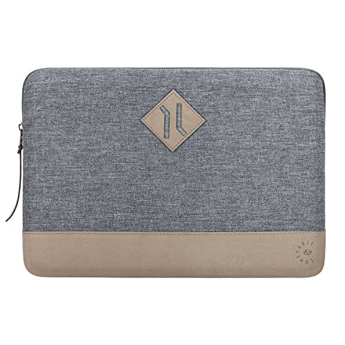 Comfyable Laptop Sleeve for 13 Inch New MacBook Pro 2016-2019, Mac Air 2018 A1932 with Small Case - Edge Bumper Protection Waterproof Computer Notebook Cover Case for Mac - Dark Gray