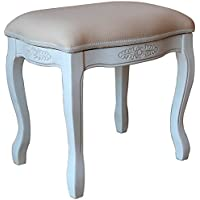 International Caravan 3963-AW-IC Furniture Piece Vanity Stool with Cushion Top