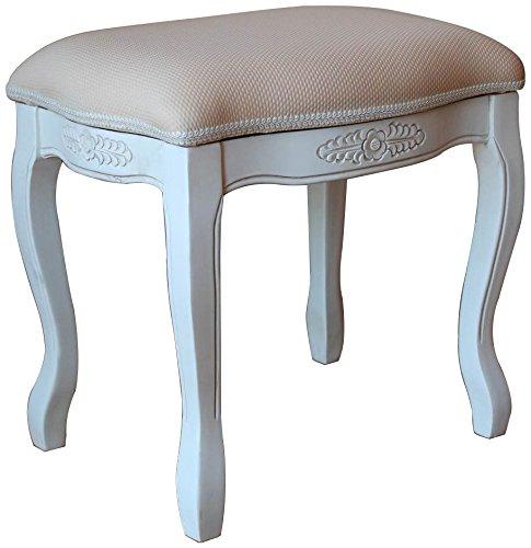 International Caravan 3963-AW-IC Furniture Piece Vanity Stool with Cushion Top
