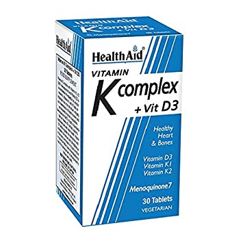 Health Aid, Vitamin K Complex +Vit D3, tabletas 30s: Amazon.es ...