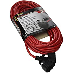 POWER ZONE OR614730/606730 Triple Tap Extension Cord 14/3, 50-Feet