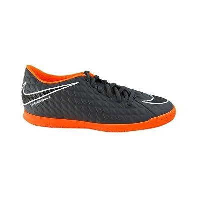 Nike Herren Fußball Hallenschuhe Hypervenom Phantom X III Club IC AH7280 Grau