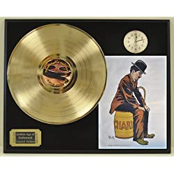 Charlie Chaplin Limited Edition Gold LP and Clock Record Display. Only 500 made. Limited quanities. FREE US SHIPPING