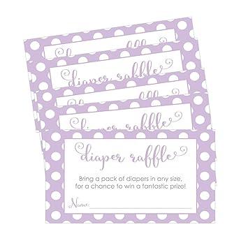 Amazon Com Purple Diaper Raffle Invitation Insert Cards Baby