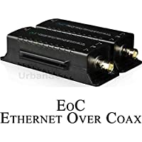 USG EoC Ethernet Over Coax Adapter Converter Device Pair : BNC & RJ45 Jacks : Send Ethernet Signal 300ft Over Coaxial Cable