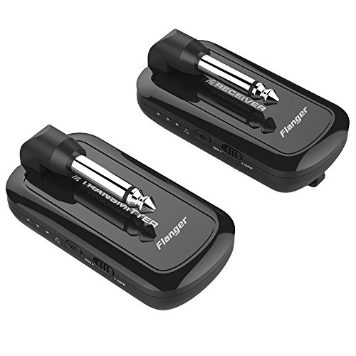 Guitar Wireless System Rechargeable in 2.4HZ for Guitar Bass Audio Transmitter Receiver Connects Guitar, Effects Pedal, AMP, Enhance Musical Performance, Musician's Great Companion– Flanger, FW1 by Flanger