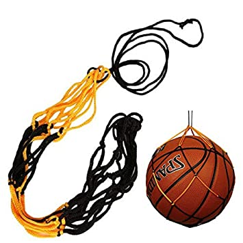 Painting Supplies Nylon Net Bag Ball Carry Mesh Volleyball Basketball Football Soccer Yellow And Black Cheap Sales