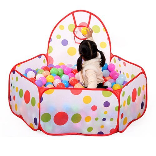 UNAKIM--Kids Ball Pit Indoor Outdoor Baby Game Play Tent Children Toy Ocean Balls - Robinson Of Story Mall