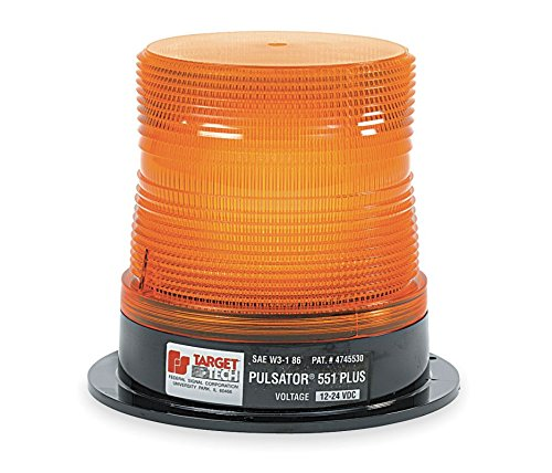 Federal Signal 211694-02 Pulsator 551 Plus Amber High-Profile Strobe Beacon (8-Joule, Single Flash, Permanent Mount)