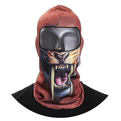 CAMTOA Motorcycle Face Mask Breathable Anti UV Face Mask Headgear Hats Lycra Balaclava Full Face Mask Neck Hood Animal Styles for Outdoor Motorcycle Bike Cycling Sports Skiing Fishing Climbing 02 by CAMTOA (Image #2)