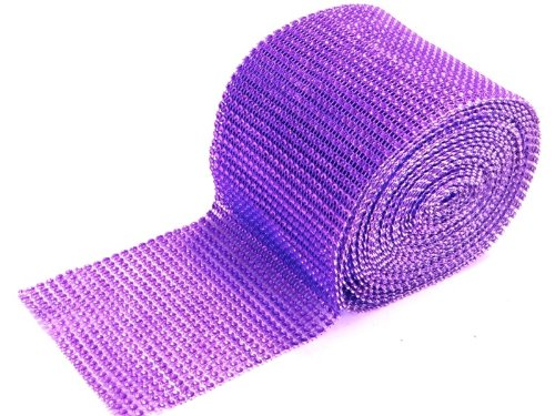 Rhinestone Band 24 Rows 9 Meters Crystal / Purple