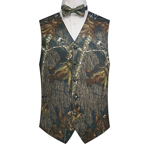 Camouflage Vest & Tie Medium with Bow