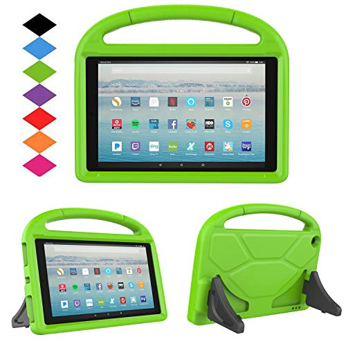 New Fire HD 10 2017 Tablet Case-TIRIN Light Weight Shock Proof Handle Stand Kids Friendly Case for Amazon Fire HD 10.1 Inch Tablet (7th Generation, 2017 Release),Green