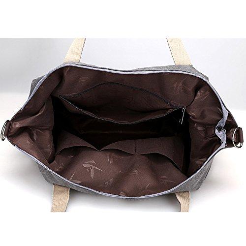 de marrón Bolsa marrón Bandolera para Bolso con Girl para Lona de BISSER Gran Mujer Capacidad Mujer 6717wfzxq