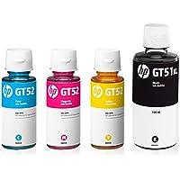 HP GT51 - 52 4 RENK MÜREKKEP KARTUŞU SETİ (4 ADET) 4 X 70 ml Orijinal-HP GT5810/5820