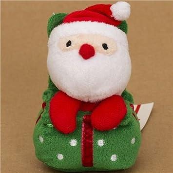 Bonito colgante de peluche Papa Noel navideño