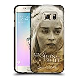 Official HBO Game Of Thrones Daenerys Targaryen Character Portraits Black Soft Gel Case for Samsung Galaxy S7 edge