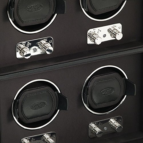 WOLF 270702 Heritage 6 Piece Watch Winder with Cover, Black by WOLF (Image #2)