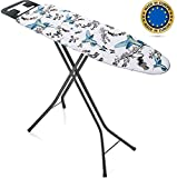 Bartnelli Rorets Ironing Board Made in Europe | Iron Board with Cover Pad, Height Adjustable, Safety Iron Rest, Safety…