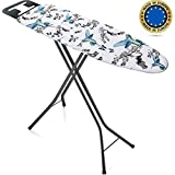 Bartnelli Rorets Ironing Board Made in Europe | Iron Board with Cover Pad, Height Adjustable, Safety Iron Rest, Safety Storag