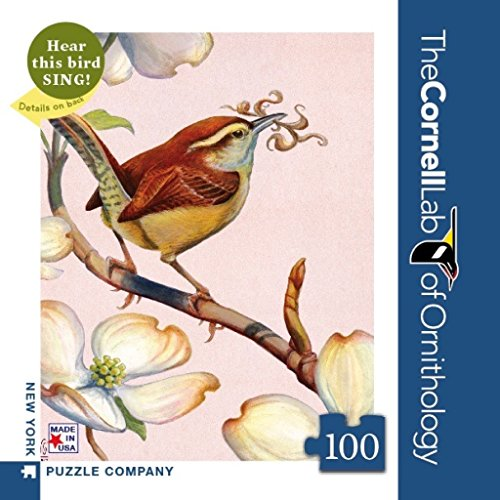 New York Puzzle Company - Cornell Lab Carolina Wren Mini - 100 Piece Jigsaw Puzzle