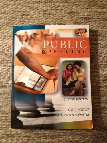 Public Speaking Custom Edition College of Southern Nevada
