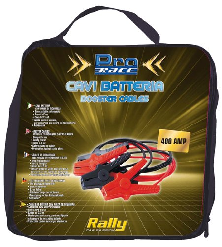 Rally 11228 - Cavi Batteria, 400 AMP, 3,5 mt x 10 mm, 2 Eurasia