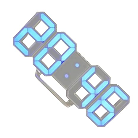 Topker 3D LED de Alarma del Reloj electrónico Luminoso Digital USB Reloj de Pared de energía