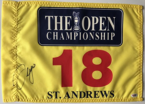 Sergio Garcia Signed St. Andrews British Open Flag 2017 Masters Golf