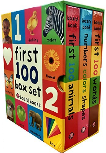 First 100 Collection 3 Books Box Set By Roger Priddy (First 100 Soft To Touch Board Books) (First 100 Words, Numbers Colours Shapes, Animals) - See Inside Shapes