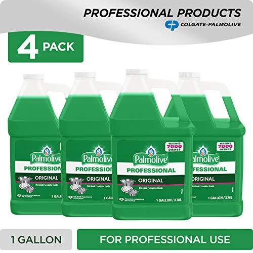 PALMOLIVE Dishwashing Liquid, Dish Soap, Dish Liquid Soap, Phosphate Free, pH Balanced, Dishwasher Cleaner, 1 Gallon Bottle (Pack of 4) (204915)