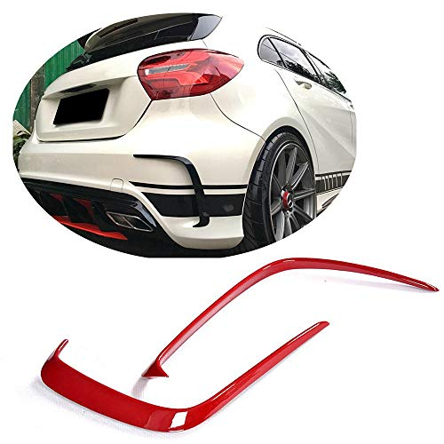 MCARCAR KIT Rear Bumper Vent fits Mercedes Benz A Class W176 A200 A250 Sport Hatchback 2013-2018 Customized ABS Air Fender Scoop Spoiler Protector Splitter Cover Trims