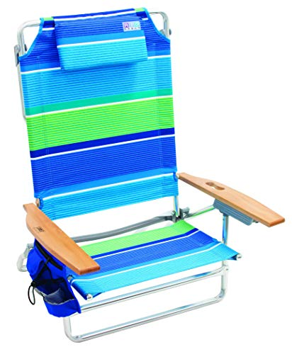 Rio Beach Big Kahuna Extra Large Folding Beach Chair - More Than A Blue Stripe (Renewed)