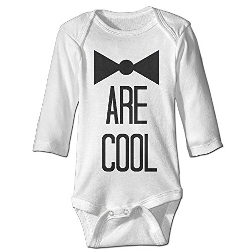 [Raymond Bow Ties Are Cool Long Sleeve Bodysuit Baby Onesie White 12 Months] (Infant Sylvester Costumes)