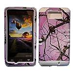 Cellphone Trendz High Impact Hybrid Rocker Silicone Case for Motorola Droid Maxx XT1080M / Droid Ultra XT1080 – Hunter Series Pink Camo Mossy Real Oak Tree Case Hard Shell (White)