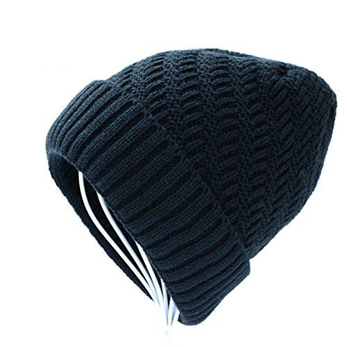 de hombres lana invierno de el Sombreros punto Los moda gorro Añadir de Cachemira E Sombrero grueso de qx7U6Utw