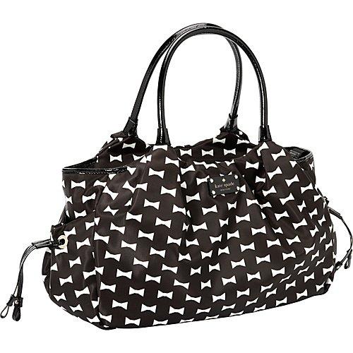 65d1c0a7dd05 Amazon.com : Kate Spade Bow Shoppe Stevie Baby Bag Black Cream : Diaper  Tote Bags : Baby
