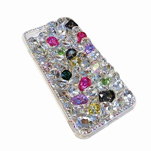 Diamond Allura - Alcatel Fierce 4 Case,Alcatel Allura Case,Alcatel Pop 4 Plus Full Crystal Diamond Case, 3D Handmade Luxury Sparkle Crystal Rhinestone Diamond Glitter Bling Clear TPU Case (Full/Color)