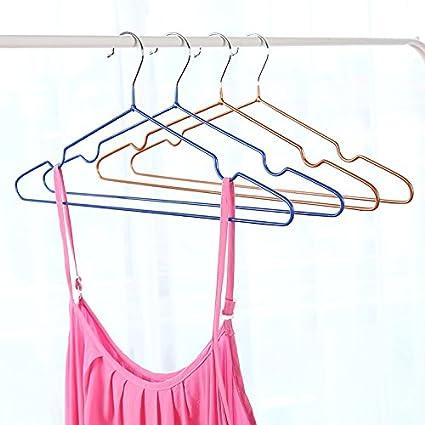 estantes Decorativos para Ba/ño 2# Azul MENGZHEN 10 Perchas de Metal Antideslizantes para Colgar Ropa o Pantalones Acero Inoxidable